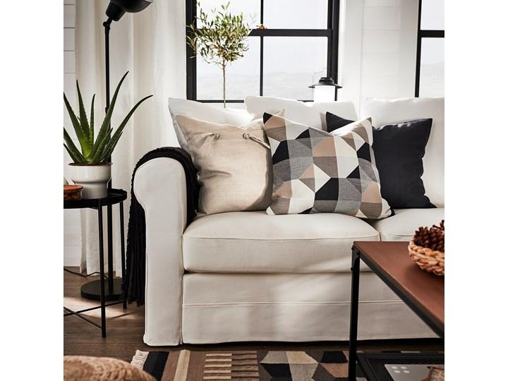 IKEA GRÖNLID Sofa 3-osobowa, Inseros biały, Wysokość z poduchami oparcia: 104 cm Materiał obicia Tkanina Typ Gładkie
