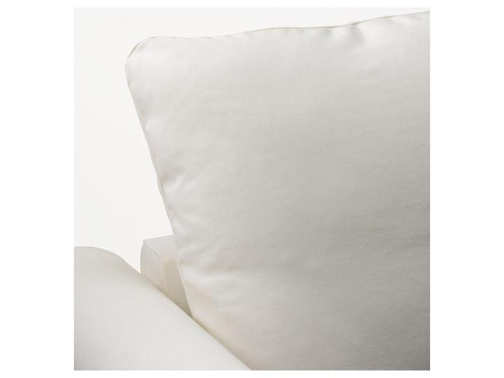 IKEA GRÖNLID Sofa 4-osobowa z szezlongiem, Inseros biały, Wysokość z poduchami oparcia: 104 cm Materiał obicia Tkanina