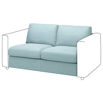 IKEA VIMLE Sekcja 2-osobowa, Saxemara jasnoniebieski, Głębokość: 98 cm