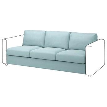 IKEA VIMLE Sekcja 3-osobowa, Saxemara jasnoniebieski, Głębokość: 98 cm