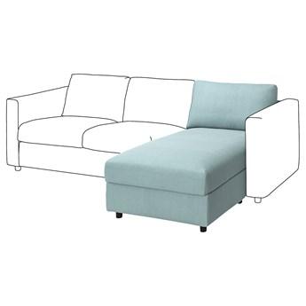 IKEA VIMLE Sekcja leżanka, Saxemara jasnoniebieski, Głębokość: 164 cm