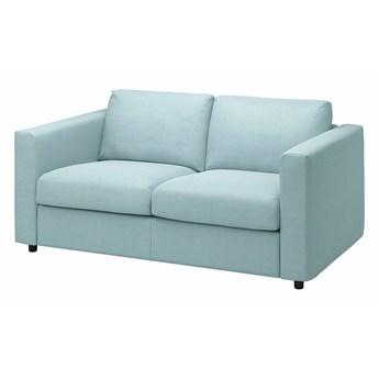 IKEA VIMLE Sofa 2-osobowa, Saxemara jasnoniebieski, Wysokość z poduchami oparcia: 83 cm