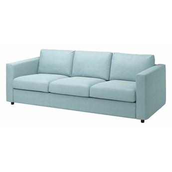 IKEA VIMLE Sofa 3-osobowa, Saxemara jasnoniebieski, Wysokość z poduchami oparcia: 83 cm