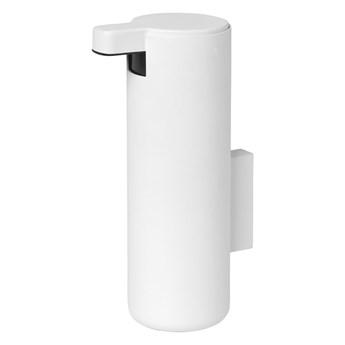 Biały ścienny dozownik do mydła Blomus