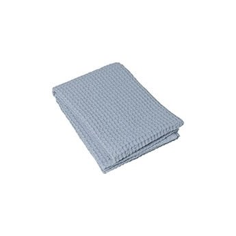 Jasnoniebieski bawełniany ręcznik kąpielowy Blomus Ashley, 140x70 cm