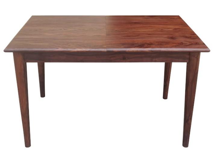 Stół rozkładany MARIAN - 120x80 cm (Karmel) Drewno Długość 120 cm  Kamień Styl Industrialny Rozkładanie Rozkładane