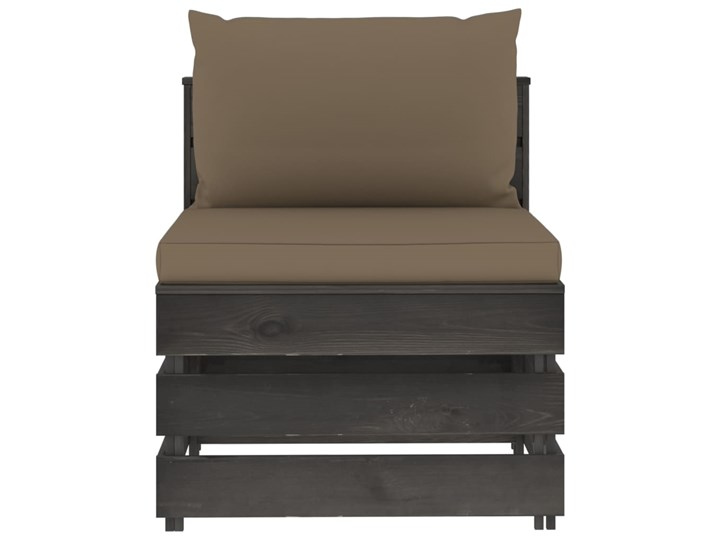 vidaXL 5-cz. zestaw wypoczynkowy do ogrodu, z poduszkami, drewniany Drewno Styl Rustykalny Zestawy modułowe Zestawy wypoczynkowe Kategoria Zestawy mebli ogrodowych
