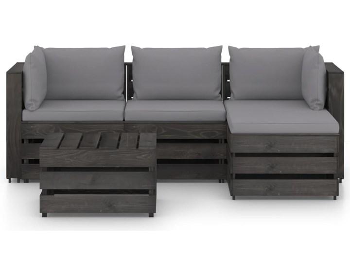 vidaXL 5-cz. zestaw wypoczynkowy do ogrodu, z poduszkami, drewniany Zestawy wypoczynkowe Drewno Styl Rustykalny Zestawy modułowe Kategoria Zestawy mebli ogrodowych