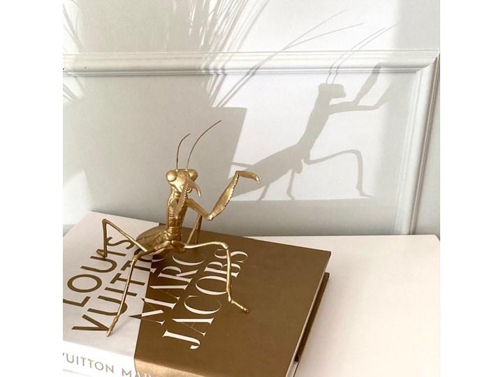 FIGURKA ZŁOTA MODLISZKA 19x29x20CM Tworzywo sztuczne Zwierzęta Kolor Złoty