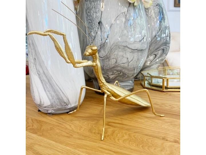 FIGURKA ZŁOTA MODLISZKA 19x29x20CM Tworzywo sztuczne Kolor Złoty Zwierzęta Kategoria Figury i rzeźby