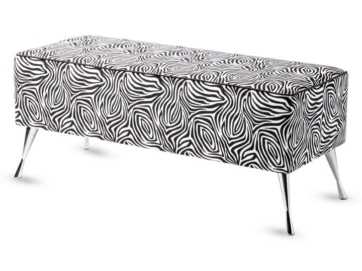 Ławka tapicerowana do przedpokoju Retro Zebra