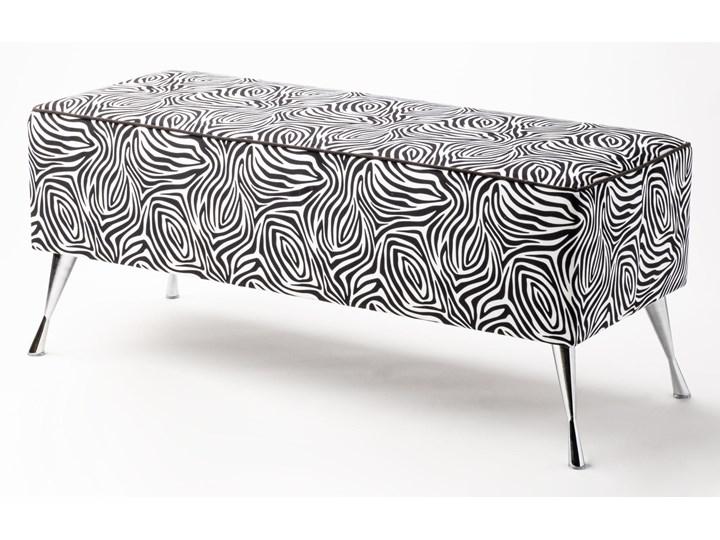 Ławka tapicerowana do przedpokoju Retro Zebra Styl Vintage