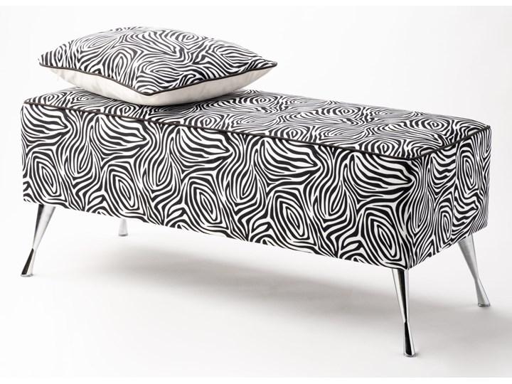 Ławka tapicerowana do przedpokoju Retro Zebra Styl Vintage Materiał obicia Tkanina