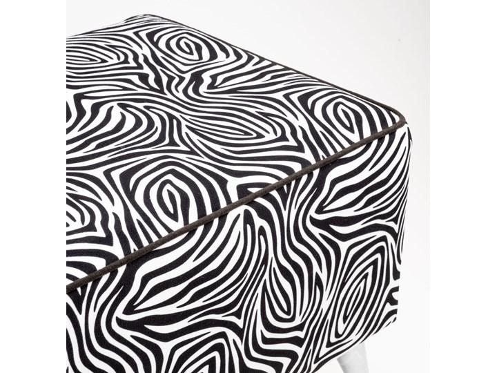 Ławka tapicerowana do przedpokoju Retro Zebra Kolor Czarny