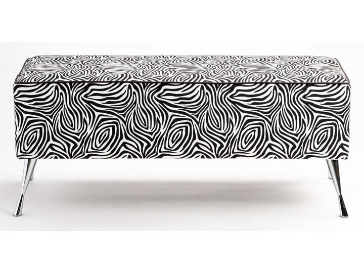 Ławka tapicerowana do przedpokoju Retro Zebra Kolor Czarny Styl Vintage