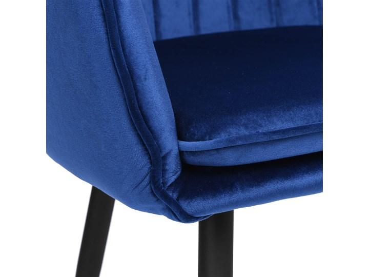 Krzesło welurowe SEVILLA VELVET granatowe Tkanina Kolor Granatowy