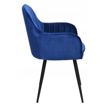 Krzesło welurowe SEVILLA VELVET granatowe