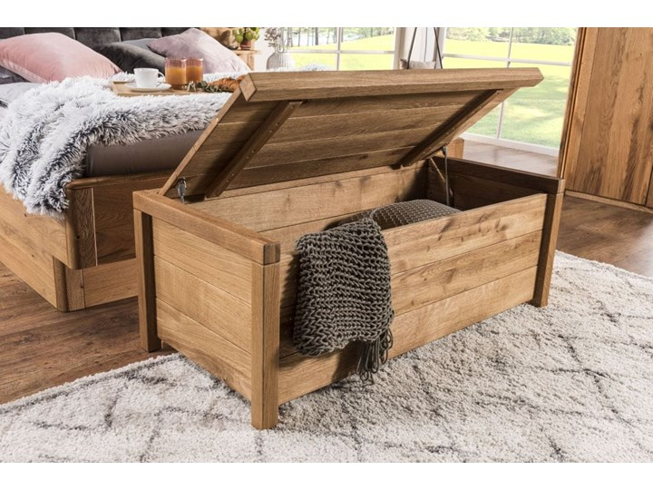 Skrzynia duża dębowa -  Box 2 Soolido Meble Kategoria Ławki do salonu