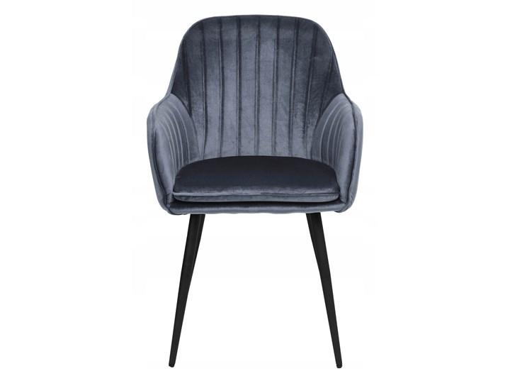 Krzesło aksamitne Sevilla velvet grafitowe Tworzywo sztuczne Tapicerowane Metal Wysokość 86 cm Głębokość 56 cm Styl Nowoczesny Krzesło inspirowane Skóra Welur Szerokość 55 cm Tkanina Styl Skandynawski