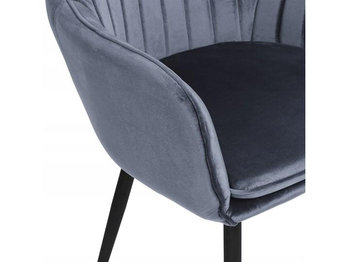Krzesło aksamitne Sevilla velvet grafitowe Welur Skóra Tkanina Głębokość 56 cm Tapicerowane Metal Wysokość 86 cm Krzesło inspirowane Tworzywo sztuczne Szerokość 55 cm Kolor Szary Styl Nowoczesny