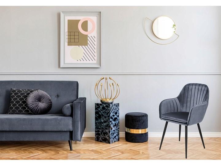Krzesło aksamitne Sevilla velvet grafitowe Tworzywo sztuczne Głębokość 56 cm Tkanina Szerokość 55 cm Welur Wysokość 86 cm Kolor Szary Skóra Metal Tapicerowane Krzesło inspirowane Styl Nowoczesny