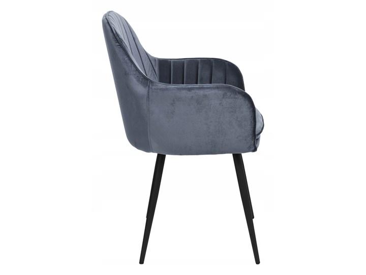 Krzesło aksamitne Sevilla velvet grafitowe Krzesło inspirowane Tapicerowane Wysokość 86 cm Głębokość 56 cm Tworzywo sztuczne Szerokość 55 cm Skóra Tkanina Welur Metal Styl Nowoczesny