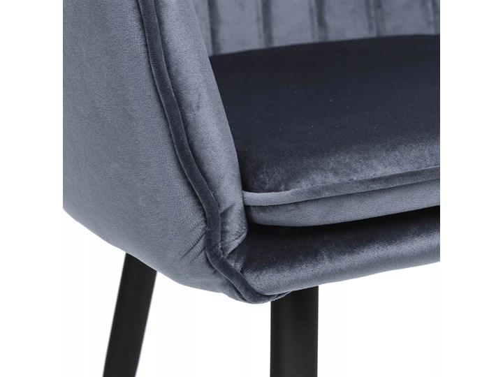 Krzesło aksamitne Sevilla velvet grafitowe Szerokość 55 cm Welur Krzesło inspirowane Głębokość 56 cm Tapicerowane Metal Skóra Styl Skandynawski Wysokość 86 cm Tkanina Tworzywo sztuczne Kolor Szary