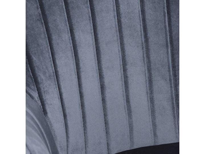 Krzesło aksamitne Sevilla velvet grafitowe Tapicerowane Wysokość 86 cm Tworzywo sztuczne Szerokość 55 cm Krzesło inspirowane Głębokość 56 cm Welur Tkanina Metal Skóra Kolor Szary