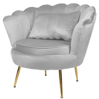 Muszelka fotel szary z poduszką