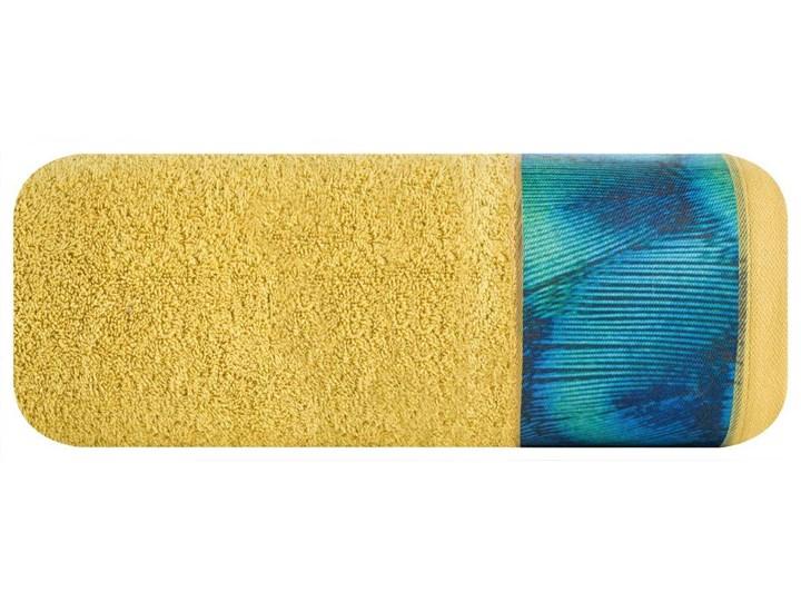 Ręcznik Eva Minge Camila musztardowy w rozmiarze 50x90 z drukowaną bordiurą Bawełna Ręcznik kąpielowy 50x90 cm Kategoria Ręczniki