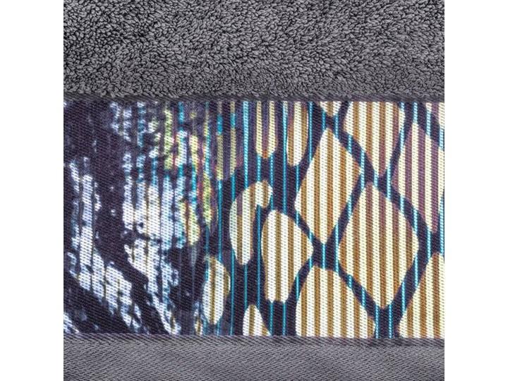 Ręcznik Eva Minge Carla stalowy w rozmiarze 70x140 z drukowaną bordiurą 70x140 cm Bawełna Ręcznik kąpielowy Kategoria Ręczniki