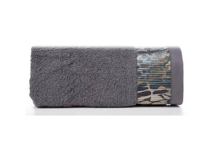 Ręcznik Eva Minge Carla stalowy w rozmiarze 70x140 z drukowaną bordiurą 70x140 cm Ręcznik kąpielowy Bawełna Kategoria Ręczniki