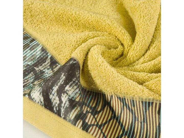 Ręcznik Eva Minge Cecil musztardowy w rozmiarze 50x90 z drukowaną bordiurą Ręcznik kąpielowy 50x90 cm Bawełna Kategoria Ręczniki