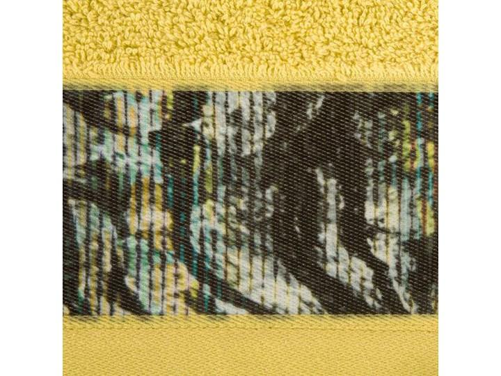 Ręcznik Eva Minge Cecil musztardowy w rozmiarze 50x90 z drukowaną bordiurą Bawełna Ręcznik kąpielowy 50x90 cm Kategoria Ręczniki