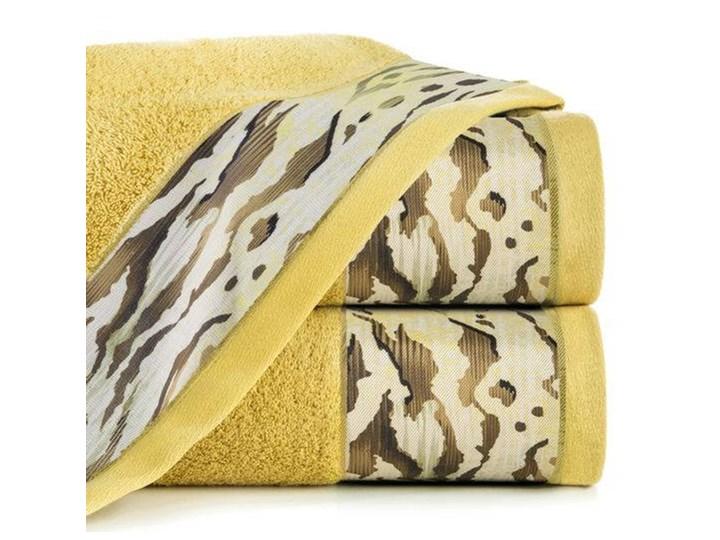 Ręcznik Eva Minge Cecil musztardowy w rozmiarze 50x90 z drukowaną bordiurą