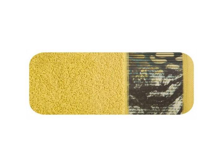 Ręcznik Eva Minge Cecil musztardowy w rozmiarze 50x90 z drukowaną bordiurą 50x90 cm Bawełna Ręcznik kąpielowy Kategoria Ręczniki