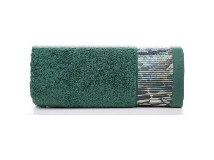 Ręcznik Eva Minge Carla ciemny zielony w rozmiarze 70x140 z drukowaną bordiurą 70x140 cm Bawełna Ręcznik kąpielowy Kategoria Ręczniki