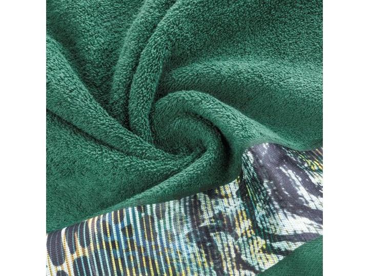 Ręcznik Eva Minge Carla ciemny zielony w rozmiarze 70x140 z drukowaną bordiurą Ręcznik kąpielowy 70x140 cm Bawełna Kategoria Ręczniki