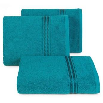 Ręcznik kąpielowy turkusowy 50x90 frotte 450g/m2 elegancki, lśniąca bordiura, Lori