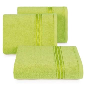 Ręcznik kąpielowy jasny zielony 50x90 frotte 450g/m2 elegancki, lśniąca bordiura, Lori