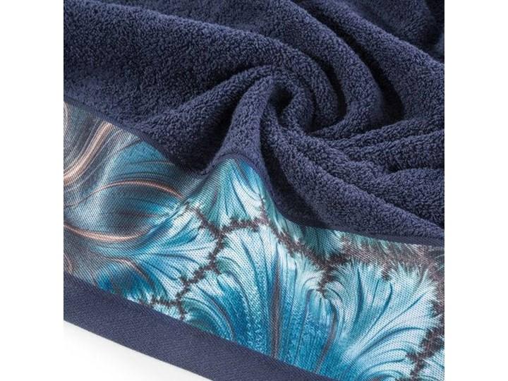 Ręcznik Eva Minge Chiara granatowy w rozmiarze 50x90 z drukowaną bordiurą Bawełna Ręcznik kąpielowy 50x90 cm Kategoria Ręczniki