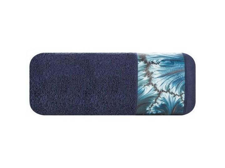 Ręcznik Eva Minge Chiara granatowy w rozmiarze 50x90 z drukowaną bordiurą 50x90 cm Ręcznik kąpielowy Bawełna Kategoria Ręczniki