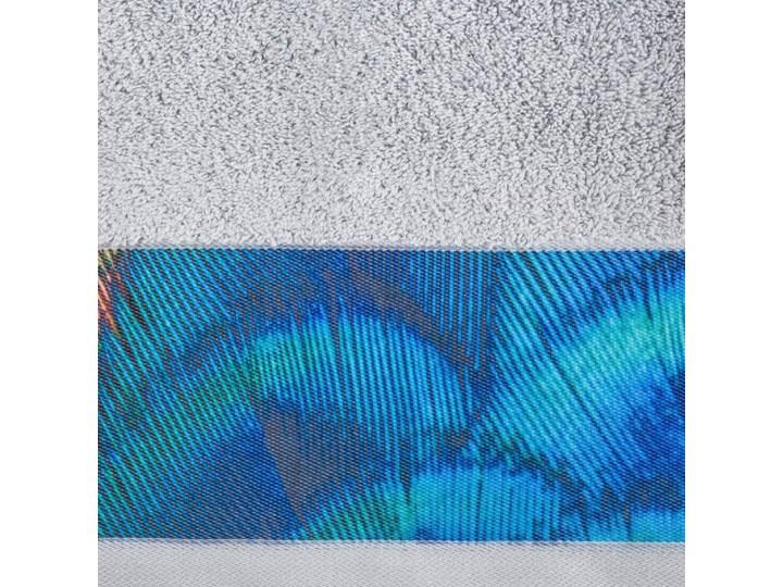 Ręcznik Eva Minge Camila srebrny w rozmiarze 50x90 z drukowaną bordiurą 50x90 cm Ręcznik kąpielowy Bawełna Kategoria Ręczniki