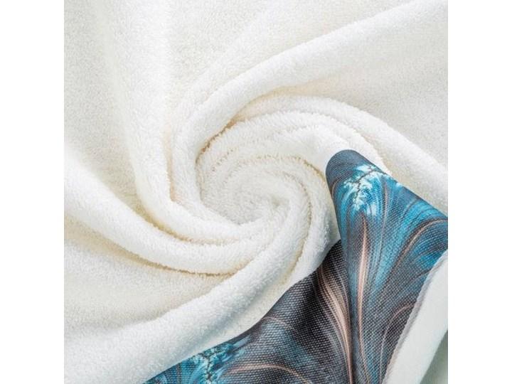 Ręcznik Eva Minge Chiara kremowy w rozmiarze 50x90 z drukowaną bordiurą Bawełna Kolor Beżowy 50x90 cm Ręcznik kąpielowy Kategoria Ręczniki