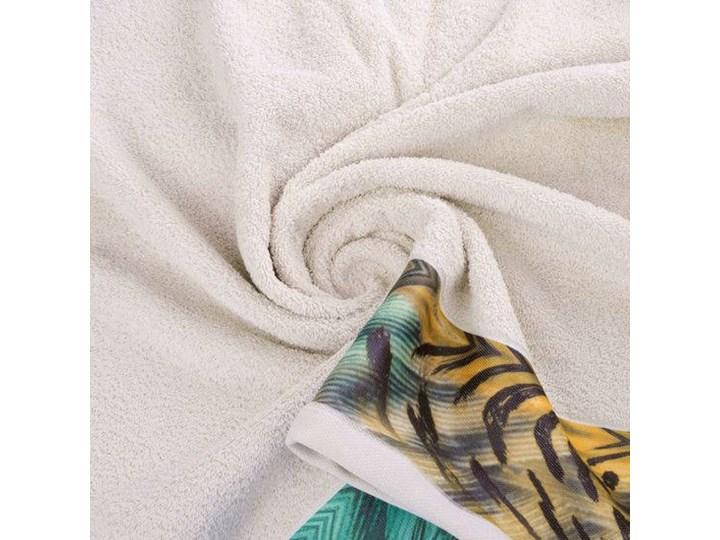 Ręcznik Eva Minge Collin beżowy w rozmiarze 70x140 z drukowaną bordiurą 70x140 cm Ręcznik kąpielowy Bawełna Kategoria Ręczniki