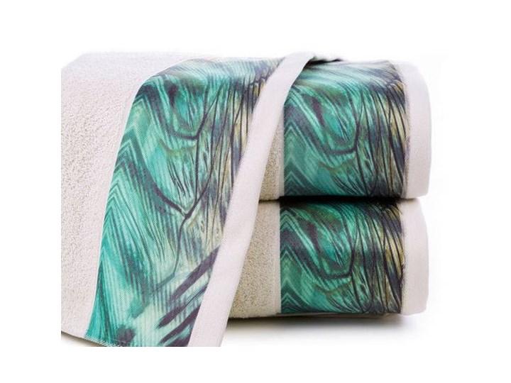 Ręcznik Eva Minge Collin beżowy w rozmiarze 70x140 z drukowaną bordiurą