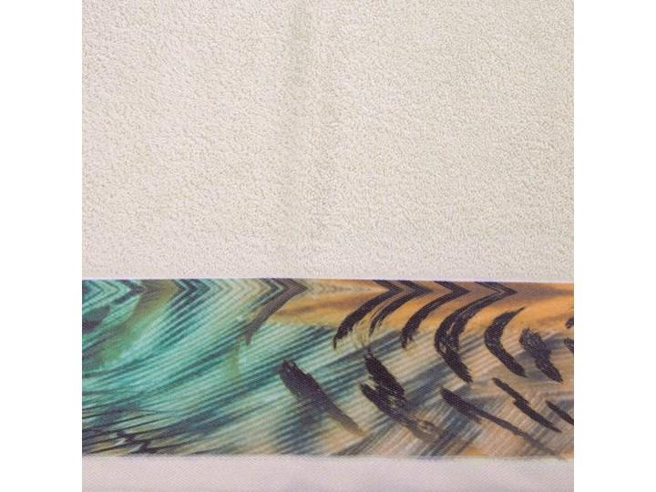 Ręcznik Eva Minge Collin beżowy w rozmiarze 70x140 z drukowaną bordiurą Ręcznik kąpielowy 70x140 cm Bawełna Kategoria Ręczniki