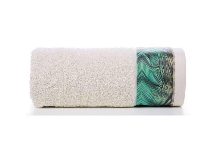 Ręcznik Eva Minge Collin beżowy w rozmiarze 70x140 z drukowaną bordiurą 70x140 cm Bawełna Ręcznik kąpielowy Kategoria Ręczniki
