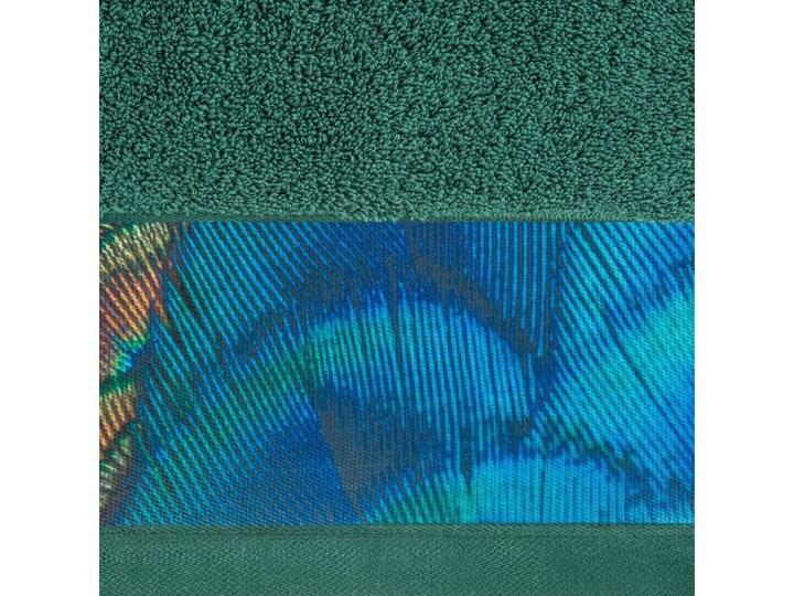 Ręcznik Eva Minge Camila ciemny zielony w rozmiarze 50x90 z drukowaną bordiurą Ręcznik kąpielowy 50x90 cm Bawełna Kategoria Ręczniki
