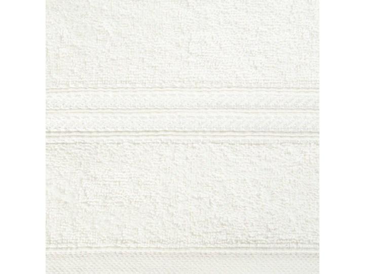 Ręcznik kąpielowy kremowy 50x90 frotte 450g/m2 elegancki, lśniąca bordiura, Lori 50x90 cm Bawełna Kolor Beżowy Kategoria Ręczniki
